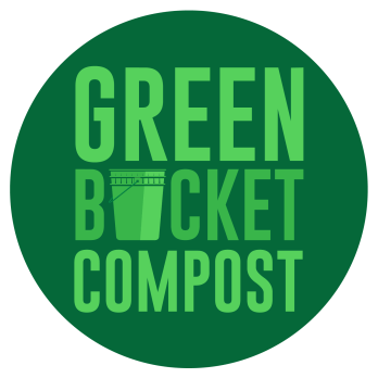 Green Bucket Compost Logo with white outline